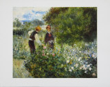Picking Flowers, 1875 Art by Pierre-Auguste Renoir