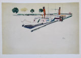 Paddle-Steamer at the Quay, 1912 Collectable Print by Egon Schiele