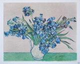 Vase of Irises, c.1890 Samletrykk av Vincent van Gogh