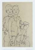 Group of Three Street-Boys, 1910 Art by Egon Schiele