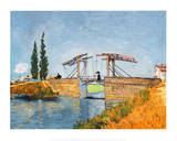 The Langlois Drawbridge Posters van Vincent van Gogh
