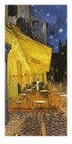 Den udendørs café på Place du Forum, Arles, om natten, ca.1888, udsnit Plakater af Vincent van Gogh