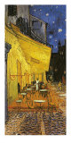 The Caf&#233; Terrace on the Place du Forum, Arles, at Night, c.1888 (detail) Print by Vincent van Gogh