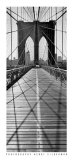 Across Brooklyn Bridge Print by Henri Silberman
