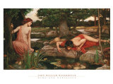 Echo and Narcissus Lminas por John William Waterhouse
