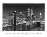 New York, Brooklyn Bridge Affiches van Henri Silberman