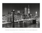New York, New York, Brooklyn Bridge Print by Henri Silberman
