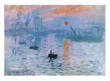 Impression Soleil Levant Art by Claude Monet