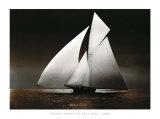 Iverna Yacht at Full Sail, c.1895 Posters