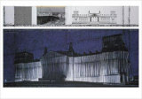 Wrapped Reichstag VII Collectable Print by  Christo