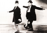 Laurel and Hardy in Danza Posters by De Pasquale 