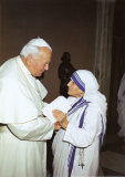 Pope John Paul and Mother Teresa Prints by P. Grist