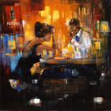 Bar Scene I Prints by Rhanavardkar Madjid