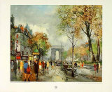 Paris, Champs Elysees Collectable Print by Fernand Claver