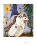 Brautpaar mit Eiffelturm Collectable Print by Marc Chagall
