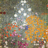 Garten eines Bauernhofs Poster von Gustav Klimt