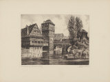 Nuernberg - Henkersteg Collectable Print by Bruck