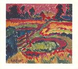 Landschaft im Herbst Poster by Karl Schmidt-Rottluff