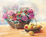 Blumenkorb mit Apfeln Prints by Rachel Rijkerke