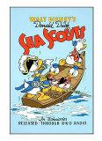 Donal Duck in Sea Scouts Serigraph