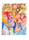 Amours II Begränsad utgåva av Enrico Baj