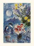 Abenderinnerung Poster von Marc Chagall