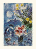 Abenderinnerung Print by Marc Chagall