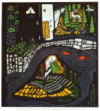 Sleeping Girl Print by Oskar Kokoschka