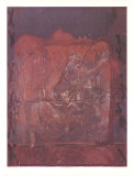 Relief in Ziegelfarbe Reproductions pour les collectionneurs par Antoni Tapies