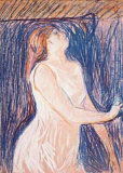 Sketch of the Model Collectable Print by Edvard Munch
