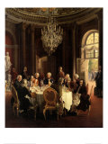 Die Tafelrunde Kunstdrucke von Adolph Von Menzel