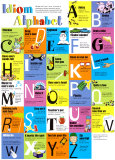 Idiom Alphabet Póster