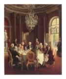 Die Tafelrunde Poster von Adolph Von Menzel