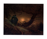 Two Men, Looking at the Moon Prints by Caspar David Friedrich