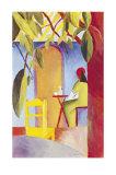 Türkisches CafeII Kunstdruck von Auguste Macke