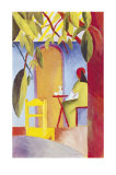 Turkisches Cafe II Print by Auguste Macke