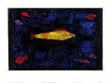 Der Goldene Fisch Poster av Paul Klee
