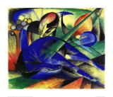 Traumendes Pferd Poster by Franz Marc