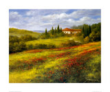 Landscape with Poppies I Print by Heinz Scholnhammer
