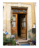 Doorway with Blue Teapots Photographic Print by Vivienne Leibowich