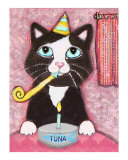 Tuxedo Cat's Birthday Party Giclee Print by Jamie Wogan Edwards