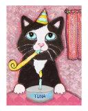 Tuxedo Cat's Birthday Party Giclee Print by Jamie Wogan Edwards