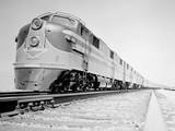 Streamliner Traveling along the Illinois Central Line Photographic Print