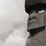 Low angle view of a Moai statue, Easter Island, Chile Photographic Print