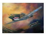 Flying Tigers Attack Giclee Print by jack connelly