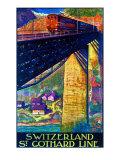 Switzerland, St. Gothard Line Giclee Print by Dan Buzzi