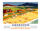 Aberdeen, Gateway to Royal Deeside Giclee Print by Frank Sherwin