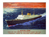 SS Avalon, BR poster, 1950s Giclee Print