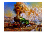 Express departing from Paddington station Giclee Print by Alan Fearnley