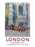 Lord Mayor's Coach, LNER poster, 1923-1947 Giclee Print by Fred Taylor